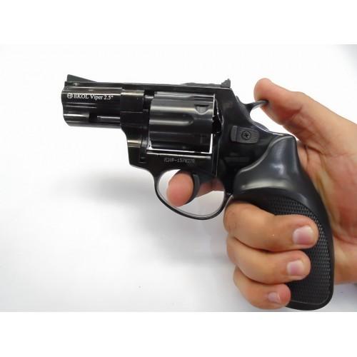 Pistolas de fogueo Ekol Viper 2.5 revolver Negro (2)