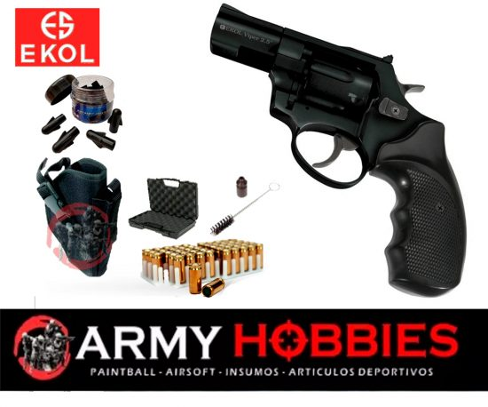 Pistolas de fogueo Ekol Viper 2.5 revolver Negro