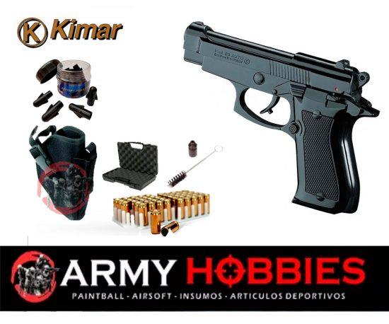 pistolas de fogueo Kimar-85-negra