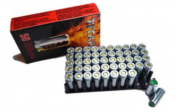 Munición Detonadora-Fogueo Perfecta Titan 9mm P.A.K (50 uds)