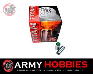 Munición para pistolas de Fogueo Perfecta Titan 9mm P.A.K (75 uds)